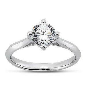 2.00 carat Prong setting round brilliant diamond